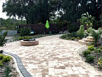 Fire Pit, Patio & Steps Paver Installation and Sealed